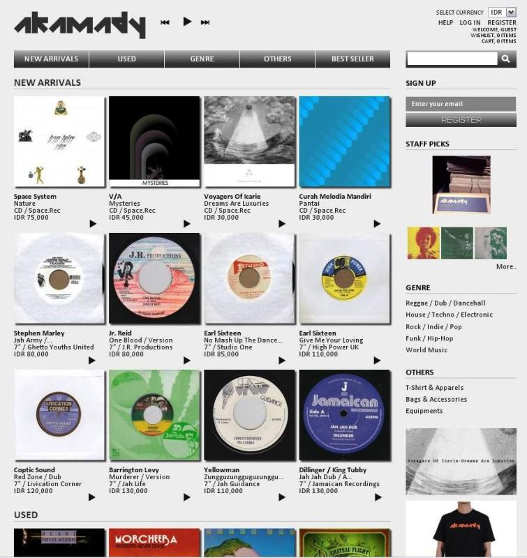 Please welcome: AKAMADY online record store | WASTED ROCKERS