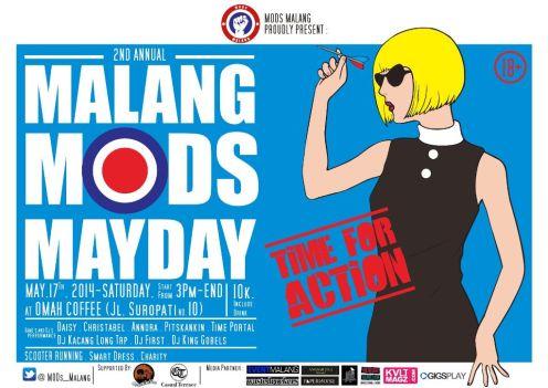 malang mods mayday 2014 poster