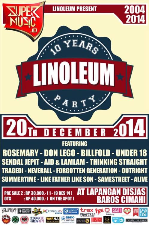 10 Years Linoleum Party