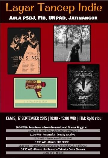 Layar Tancep Indie (poster + rundown)