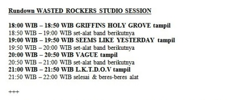 rundown Wasted Rockers Studio Session